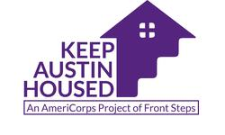 Front Steps - Keep Austin Housed logo